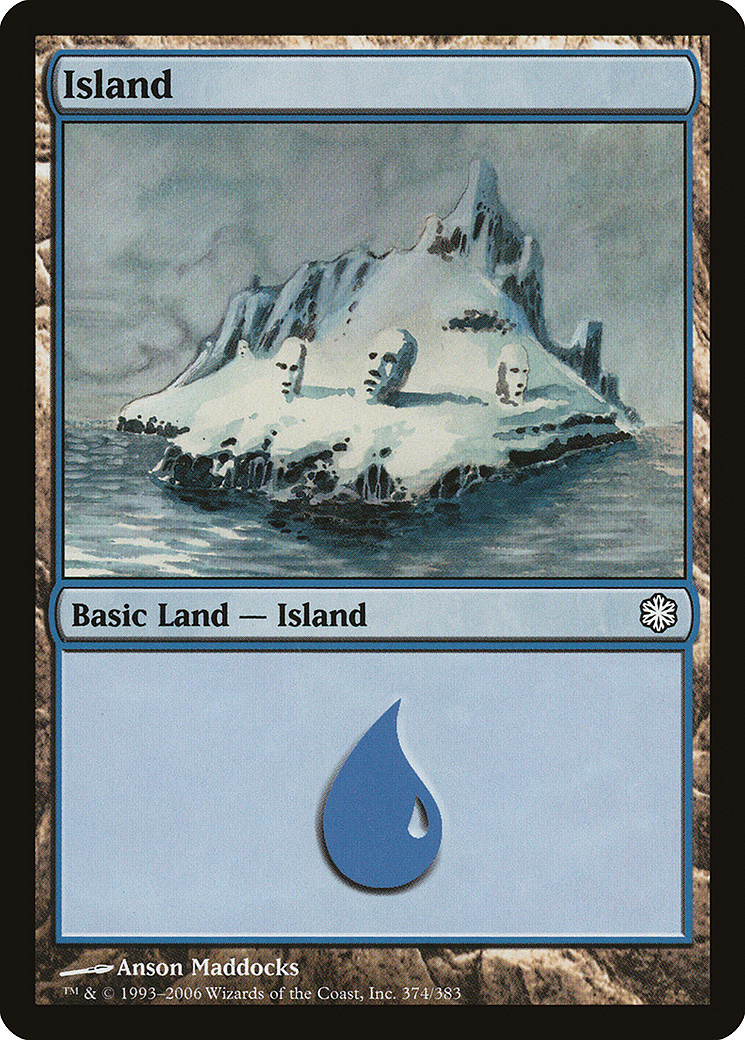 Island (374) card from Coldsnap Theme Deck Reprints