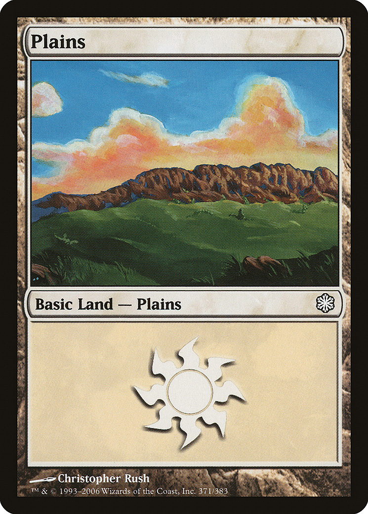 Plains (371) card from Coldsnap Theme Deck Reprints