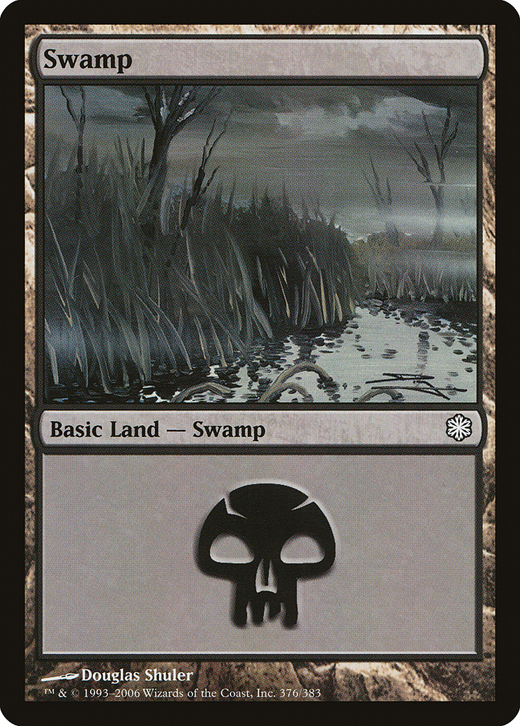 Swamp (376) card from Coldsnap Theme Deck Reprints