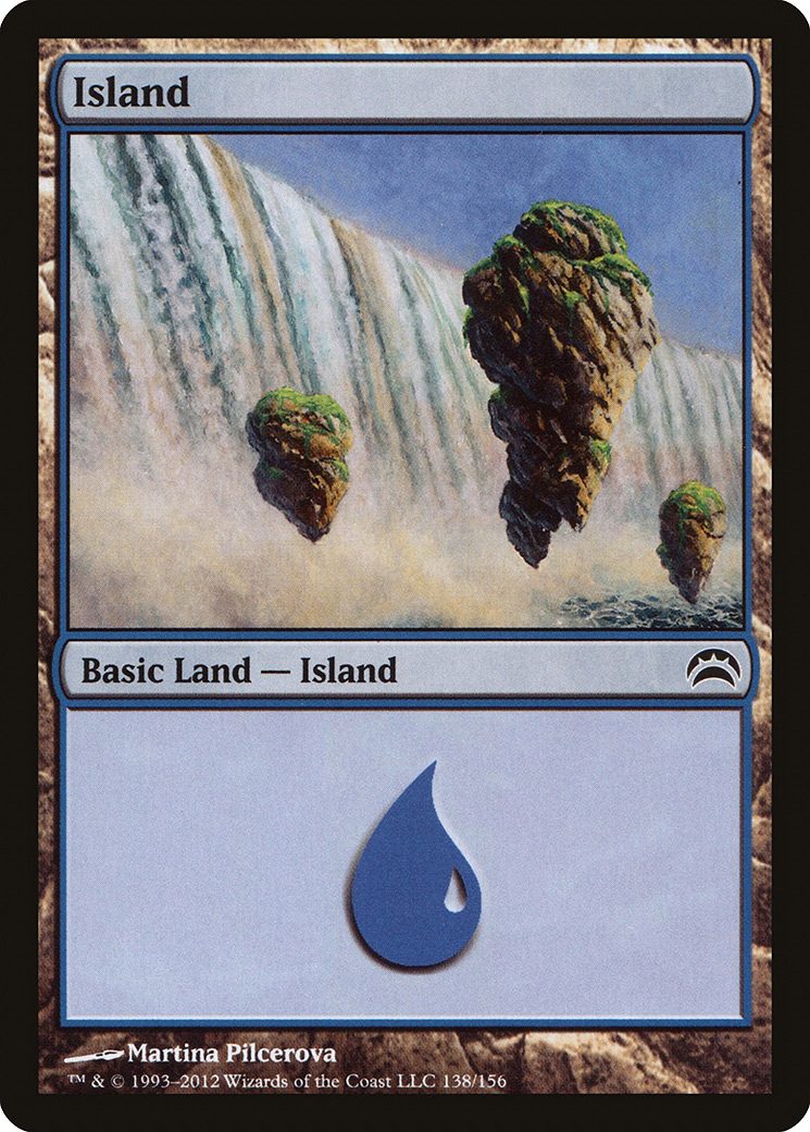 Island (138) card from Planechase 2012 Edition