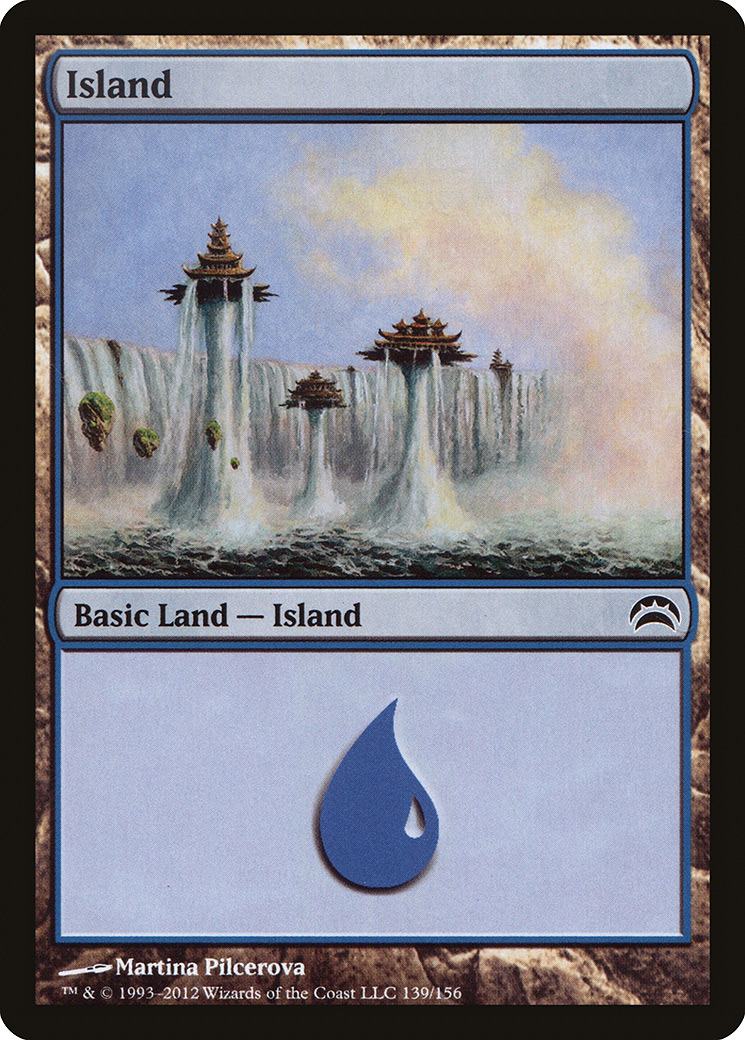 Island (139) card from Planechase 2012 Edition