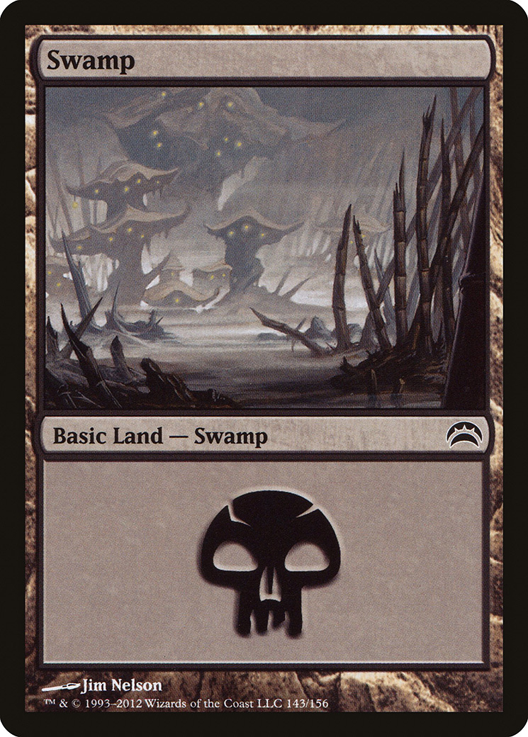 Swamp (143) card from Planechase 2012 Edition