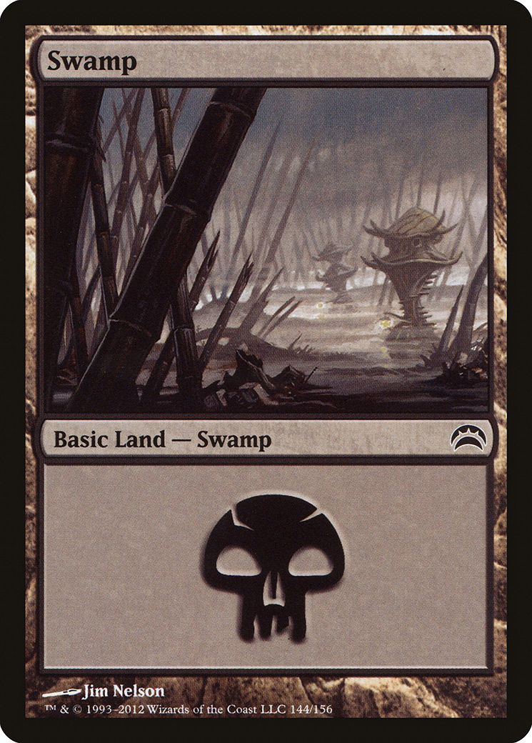 Swamp (144) card from Planechase 2012 Edition