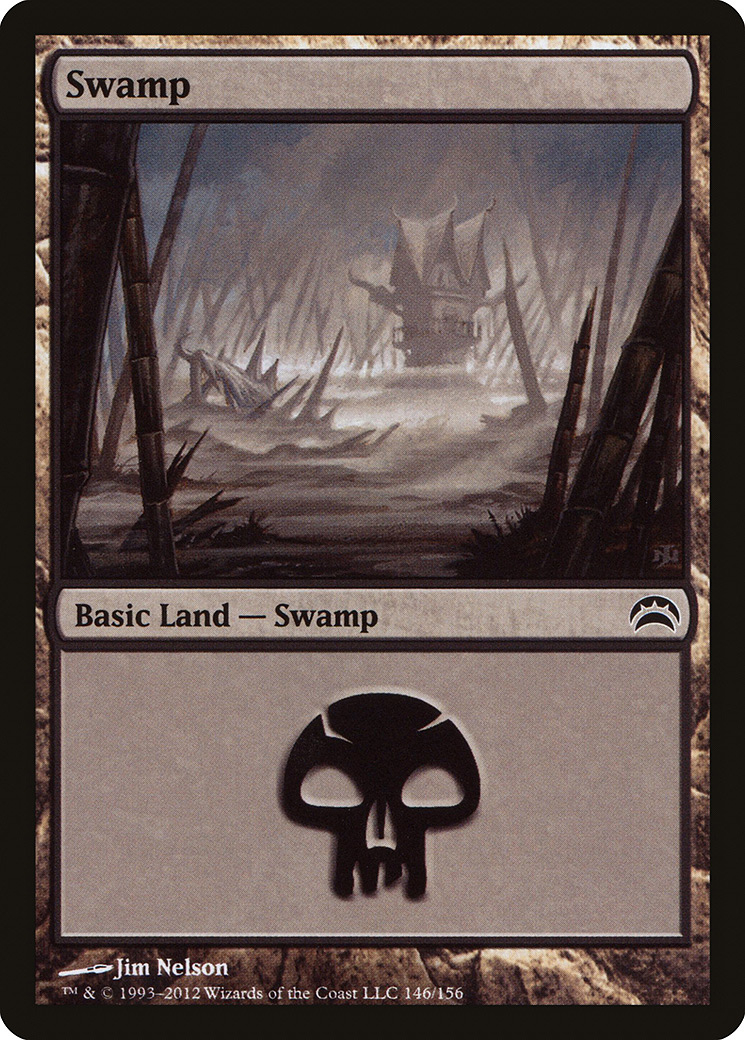 Swamp (146) card from Planechase 2012 Edition