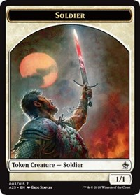 Soldier Token (003) card from Masters 25