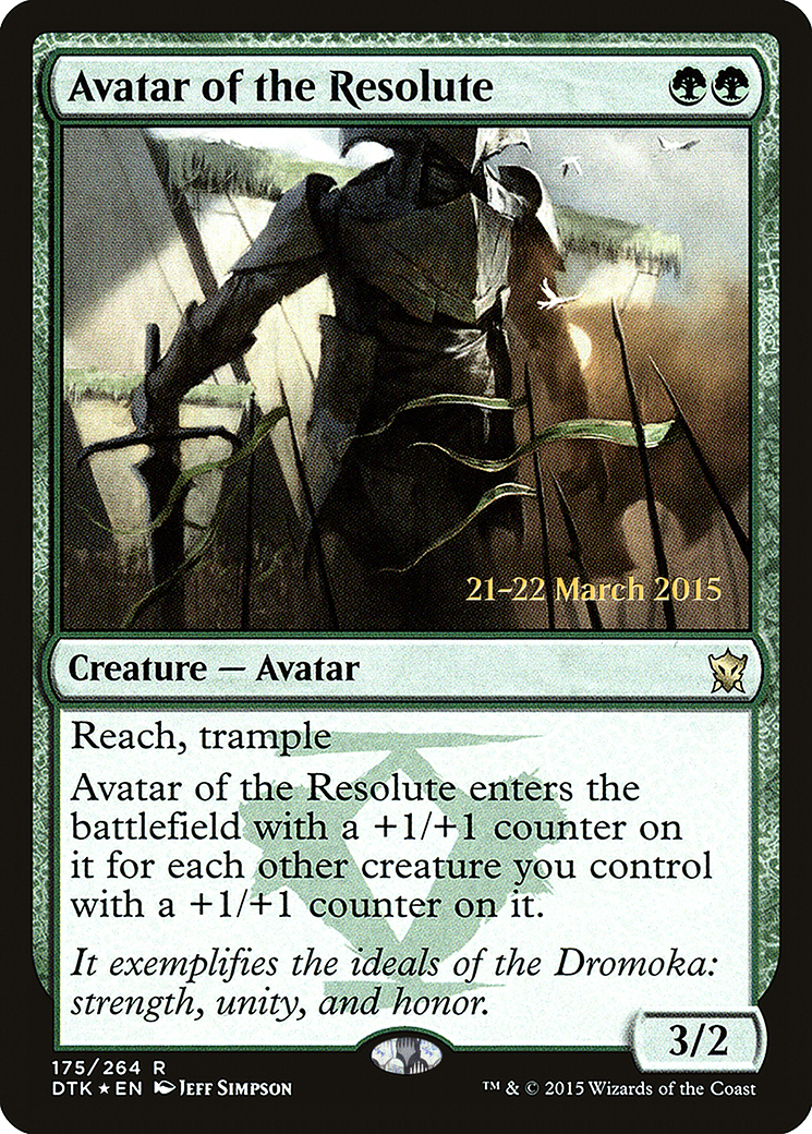 Avatar of the Resolute card from Prerelease Cards