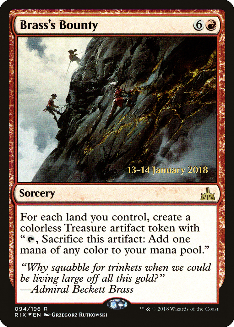 Brass's Bounty card from Prerelease Cards