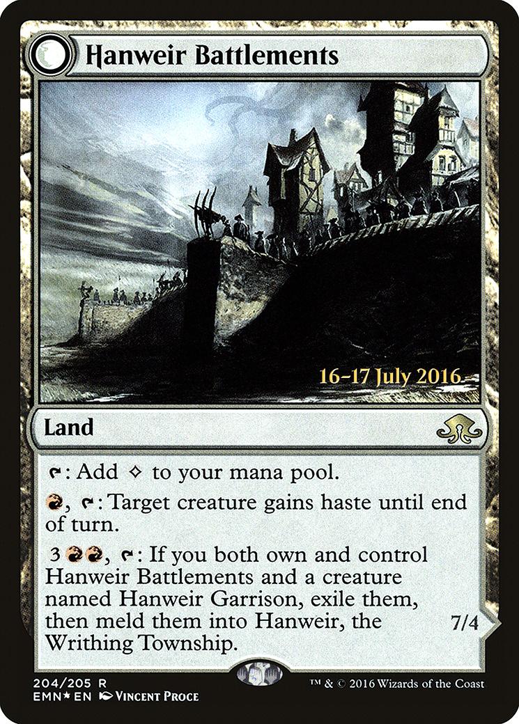 Hanweir Battlements card from Prerelease Cards