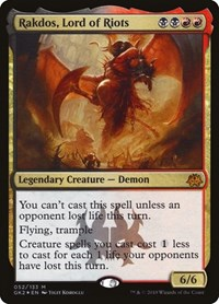 Rakdos, Lord of Riots card from Ravnica Allegiance: Guild Kits