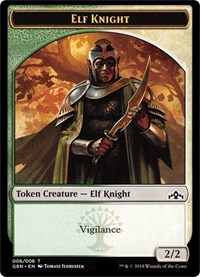 Elf Knight // Saproling Token