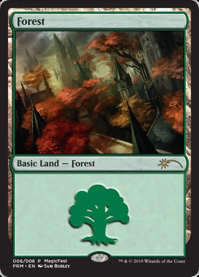 Forest (2019) card from MagicFest Cards