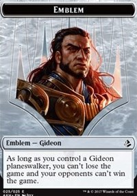 Emblem - Gideon of the Trials // Zombie Token