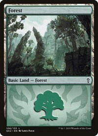 Forest (106) card from Ravnica Allegiance: Guild Kits