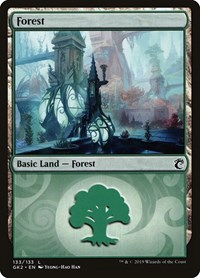 Forest (133) card from Ravnica Allegiance: Guild Kits