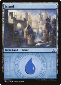Island (27) card from Ravnica Allegiance: Guild Kits