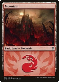 Mountain (105) card from Ravnica Allegiance: Guild Kits