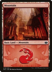 Mountain (79) card from Ravnica Allegiance: Guild Kits