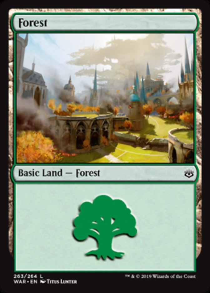 Forest (263) card from War of the Spark