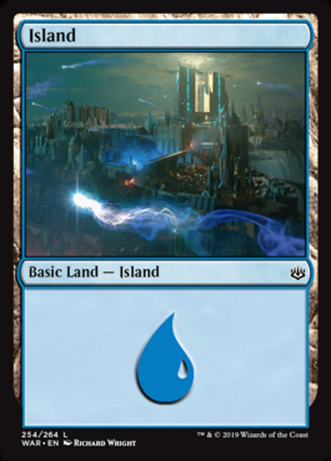 Island (254) card from War of the Spark