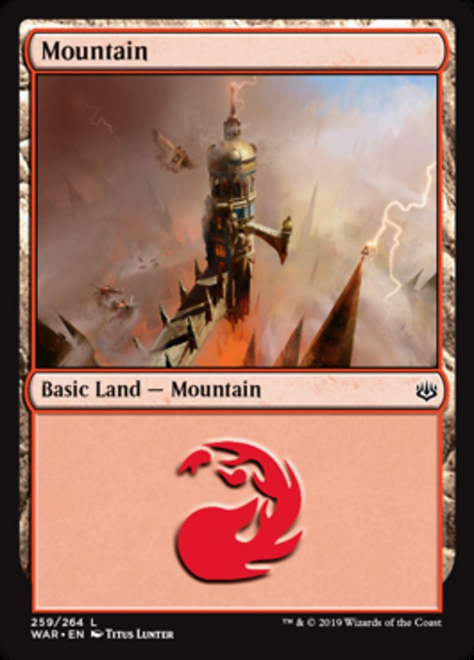 Mountain (259) card from War of the Spark