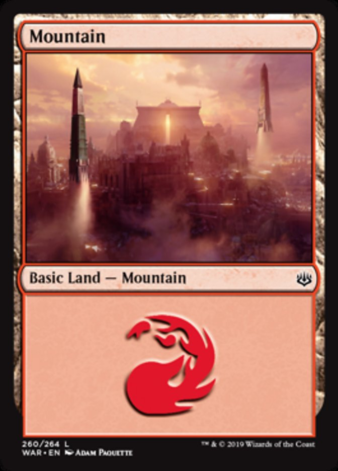 Mountain (260) card from War of the Spark