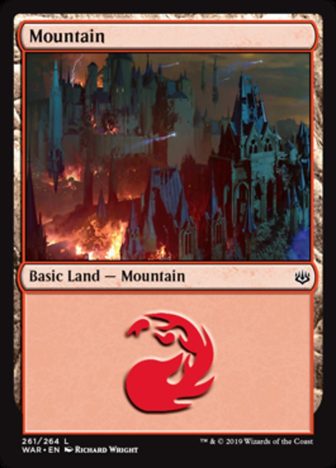 Mountain (261) card from War of the Spark