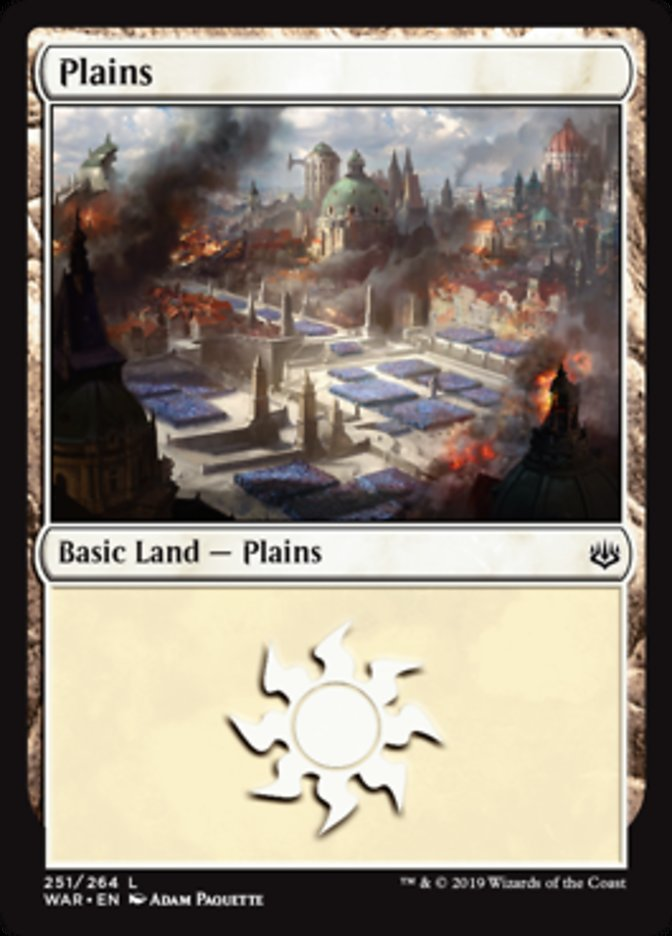 Plains (251) card from War of the Spark