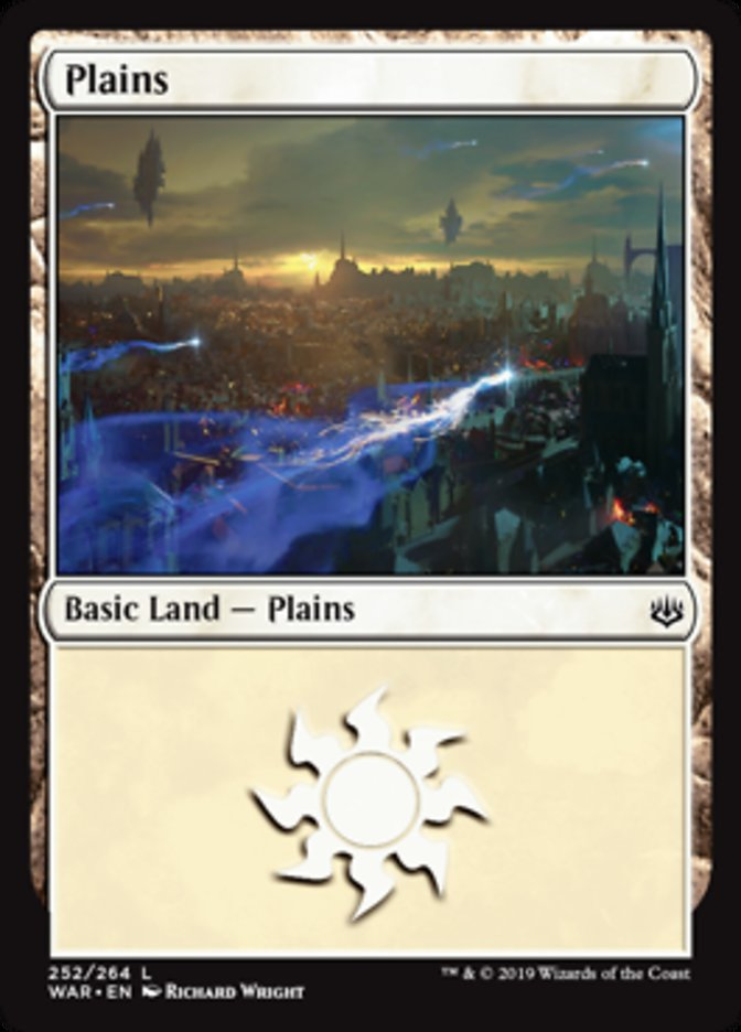 Plains (252) card from War of the Spark