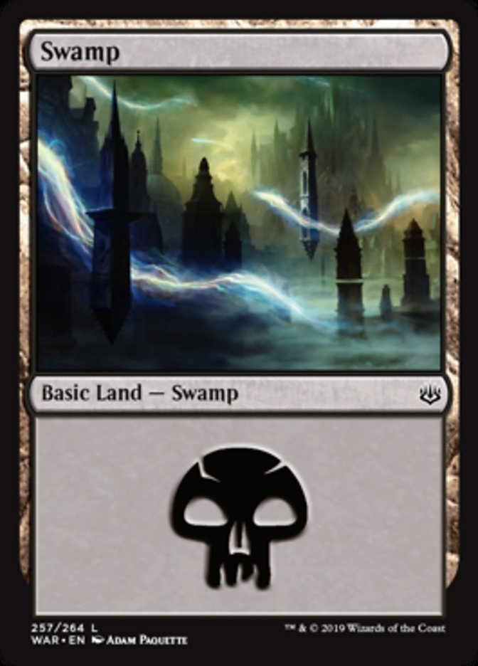 Swamp (257) card from War of the Spark