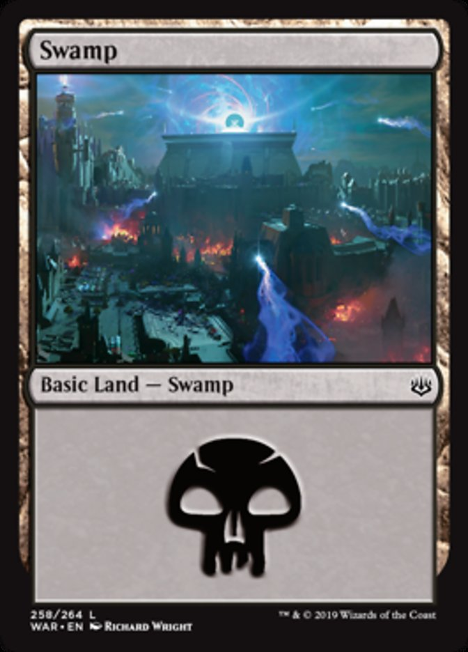 Swamp (258) card from War of the Spark
