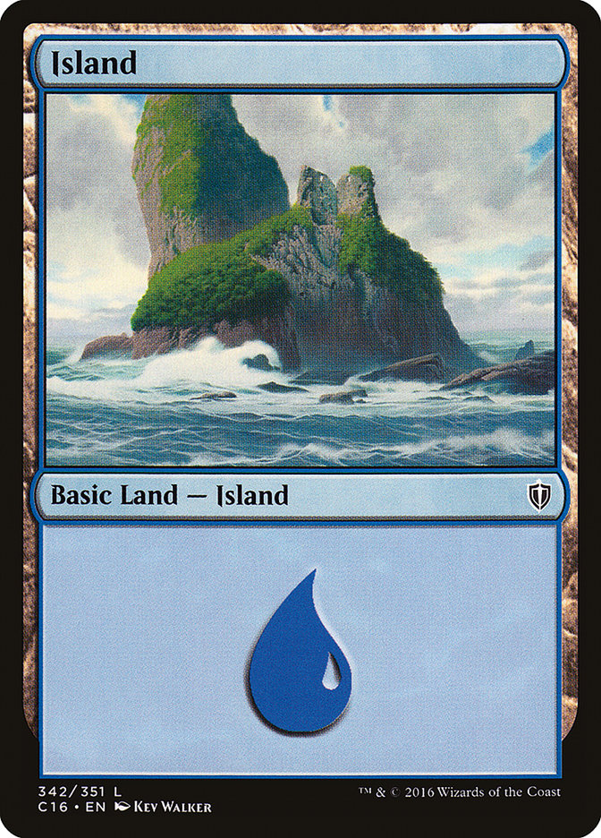 Island (342) card from Commander 2016