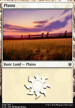 Plains (338) card from Commander 2016