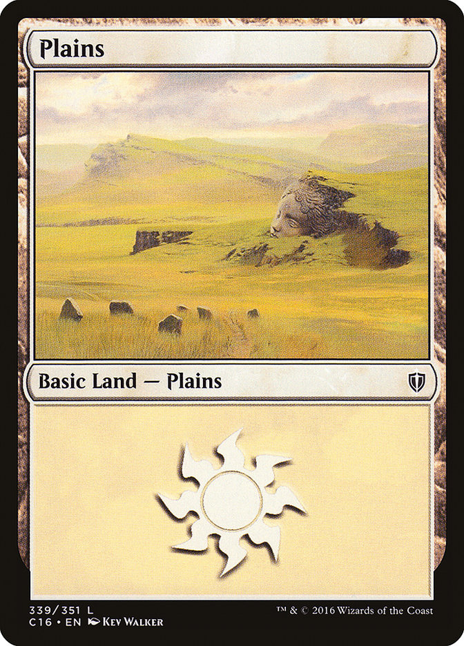 Plains (339) card from Commander 2016