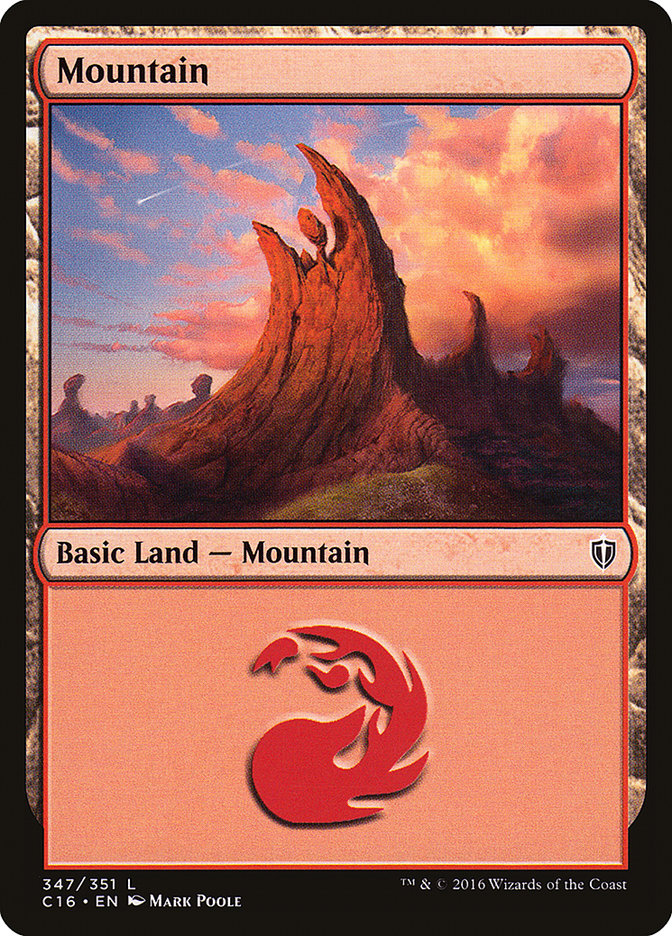 Mountain (347) card from Commander 2016