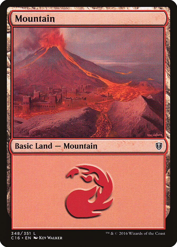 Mountain (348) card from Commander 2016