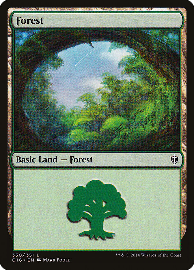 Forest (350) card from Commander 2016