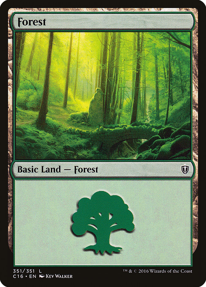 Forest (351) card from Commander 2016