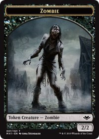 Zombie (007) // Emblem - Serra the Benevolent (020) Double-sided Token