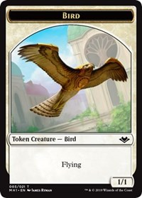 Bird (003) // Myr (019) Double-sided Token