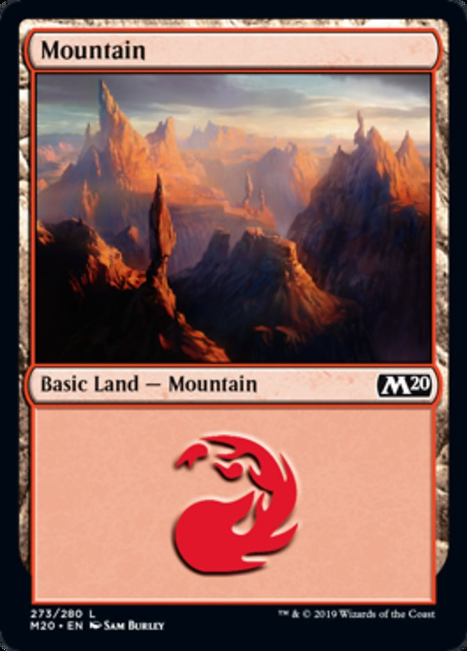 Mountain (273) card from Core Set 2020