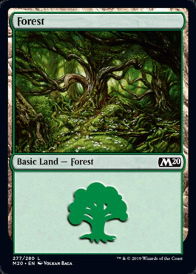 Forest (277) card from Core Set 2020