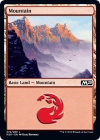 Mountain (274) card from Core Set 2020