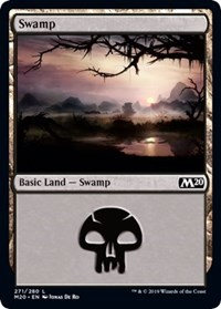 Swamp (271) card from Core Set 2020
