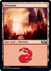 Mountain (275) card from Core Set 2020