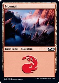 Mountain (276) card from Core Set 2020