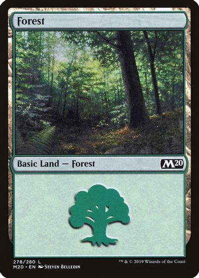 Forest (278) card from Core Set 2020