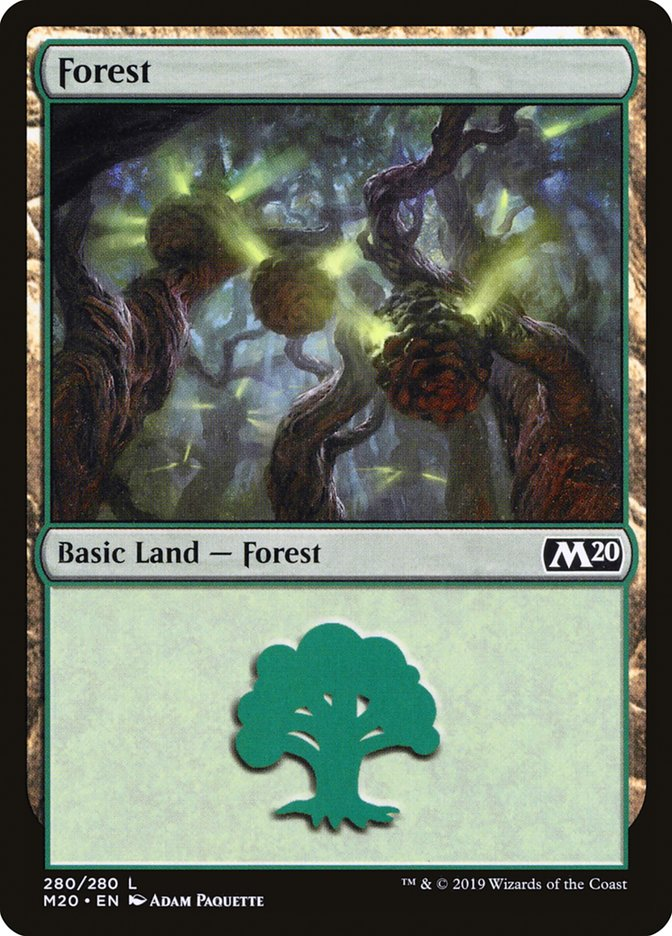 Forest (280) card from Core Set 2020