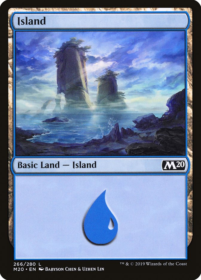 Island (266) card from Core Set 2020