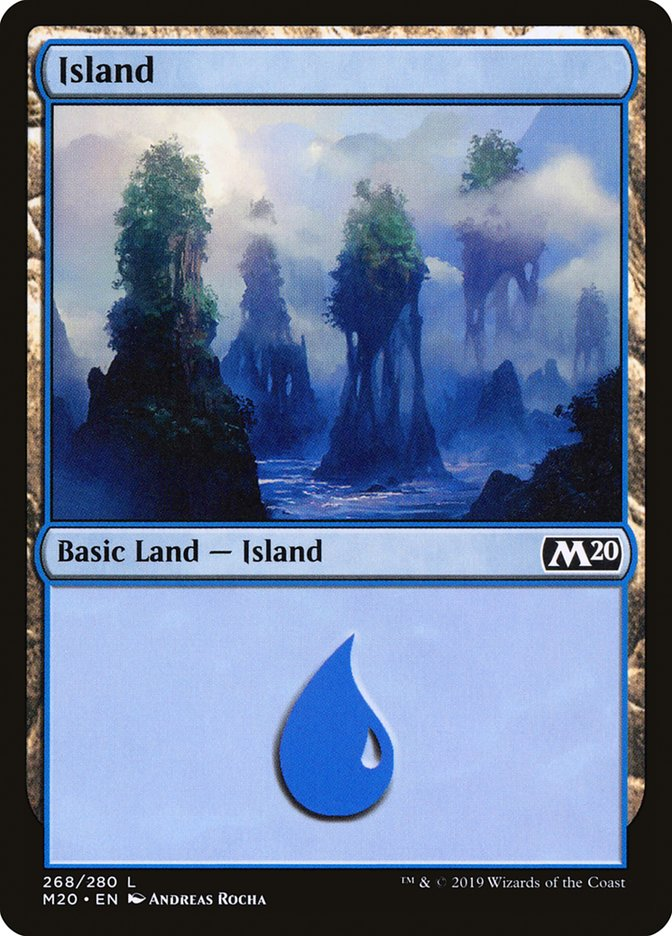 Island (268) card from Core Set 2020