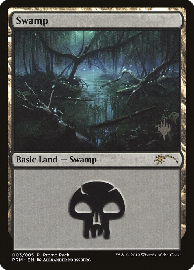 Swamp card from Promo Pack: Core Set 2020